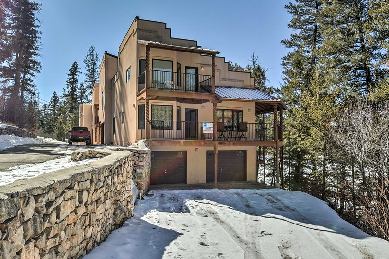 Enjoy best of the southern Rockies when you stay at 'Sleepy Bear Townhouse,' a lovely 5-bedroom, 3-bath Cloudcroft vacation rental townhome!