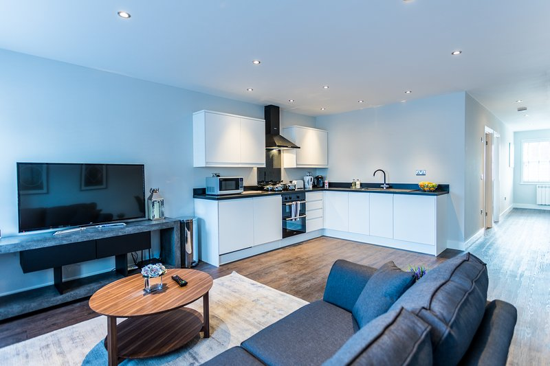 Wiltshire Suite - Luxury Serviced Flat in Old Town with secure parking, holiday rental in Swindon