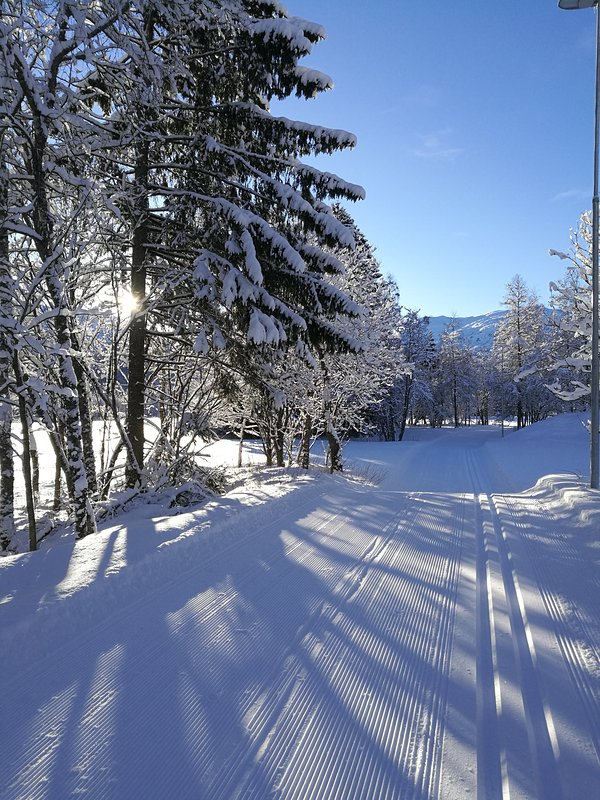With normal winter conditions you can access these cross country skiing slopes within a 10min walk