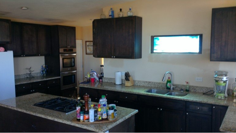 Kitchen in Great room, Double Ovens, Granite Counters, Custom cabinets. Huge kitchen & Island