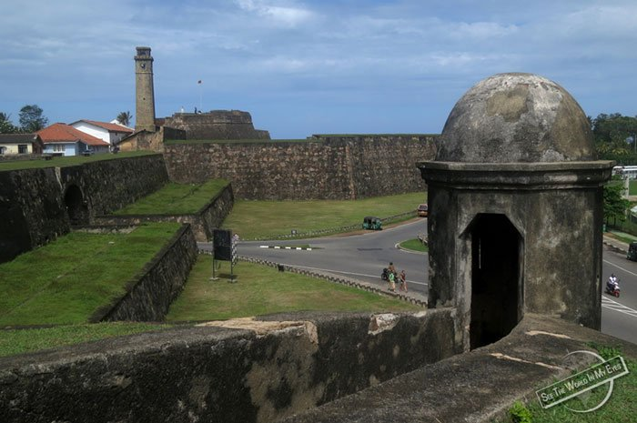 Galle Fort - UNESCO declared heritage site, cafes, fine dining, beautiful building can be seen 16km