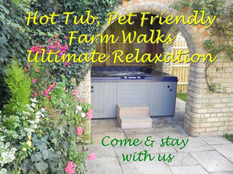 Hot Tub, Pet Friendly, Farm Walks, Quiet Location