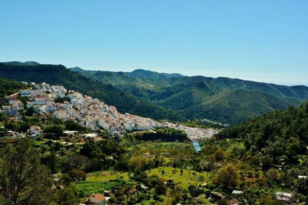 """View on the village, """"pueblo blanco"""""""
