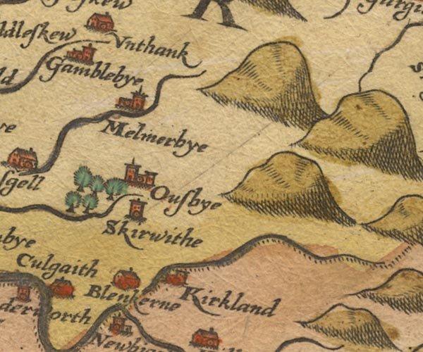 Un mapa antiguo de la zona local
