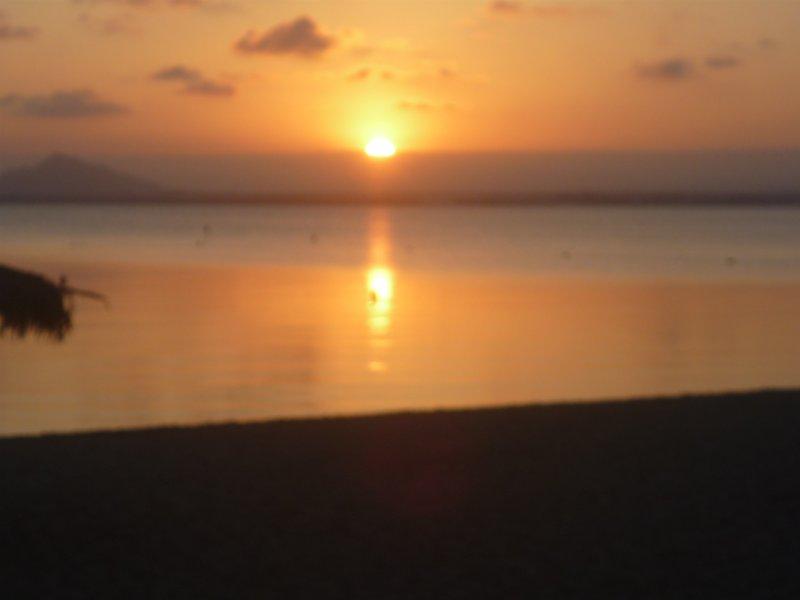 Sunset over La Manga approximately 35 mins drive