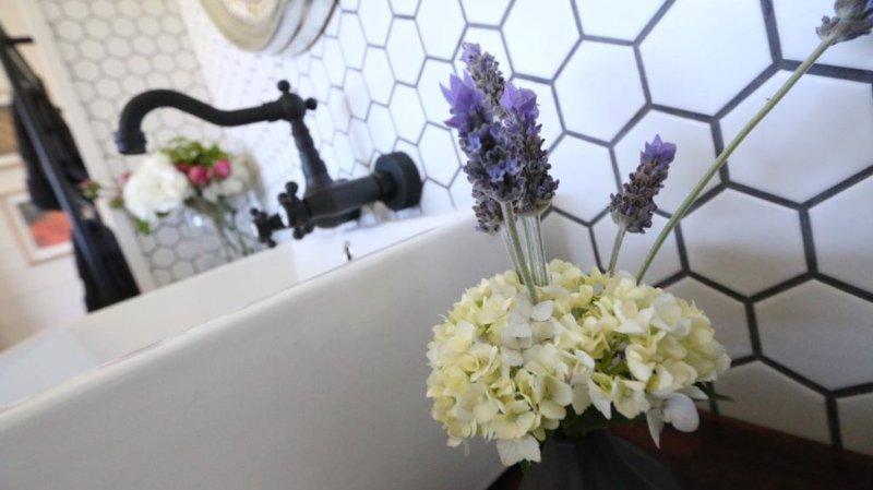 Salle de bains luxueuse et salle d'eau
