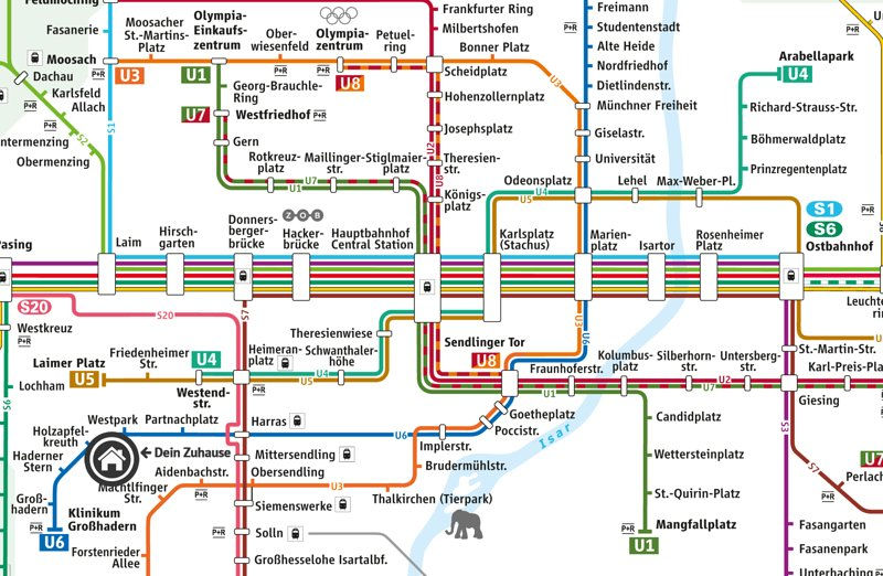 Detail of the Metro-Plan - 20 min to city, only 2 min walk to the bus (also at night once per hour)
