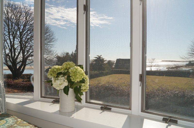 Utsikt från sovrummet ut till Atlanten - 117 Old Wharf Road Chatham Cape Cod - New England Vacation Rentals