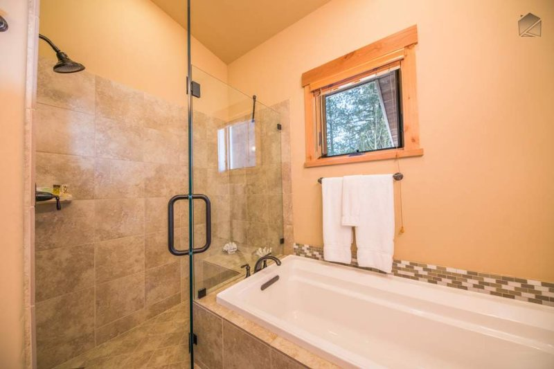 Another large tub is located in the the Junior Master Ensuite, as well as another stand-alone shower.
