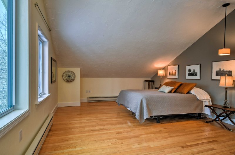 You'll wake up to the sun shining through the windows in this spacious bedroom.