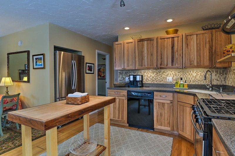 Canalizar su interior Iron Chef en la cocina totalmente equipada.