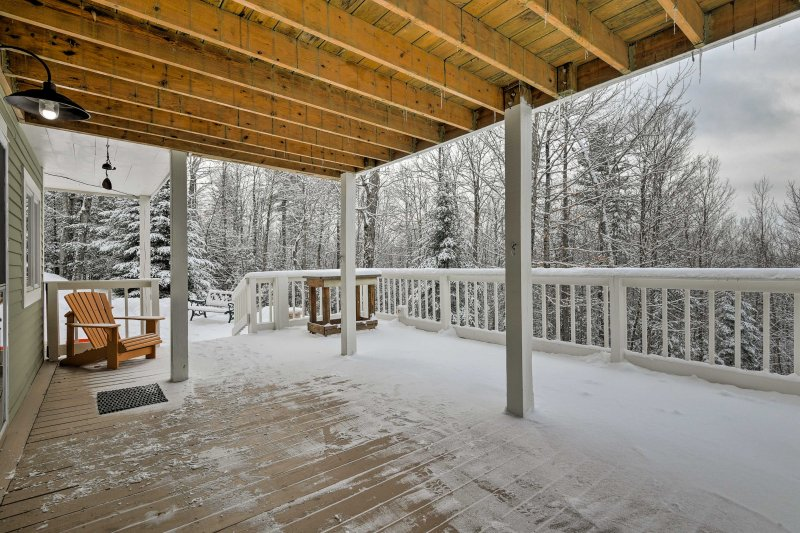 No matter the season, the porches provide a great location to marvel at nature.