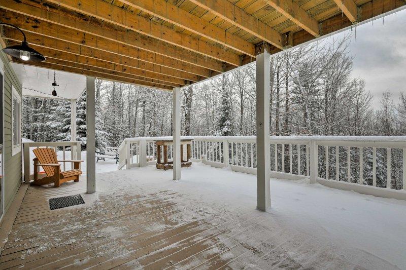 No importa la temporada, los porches proporcionan un gran lugar para admirar la naturaleza.