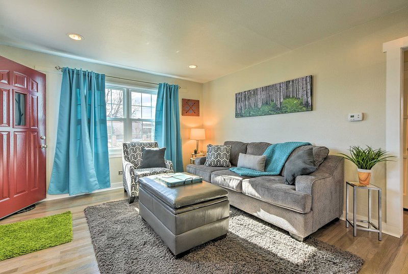 Start your Denver excursions from this 2-bedroom, 1-bath vacation rental house!