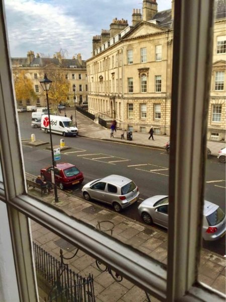 View of Great Pulteney Street from bedroom