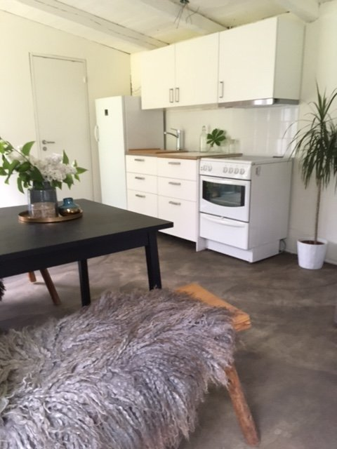Kitchen with convenience of Stove, oven and microwave oven