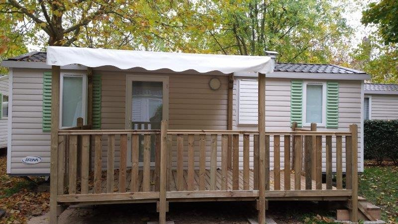 Camping mobile home comfort Retourtour 3 star Ardeche river pool
