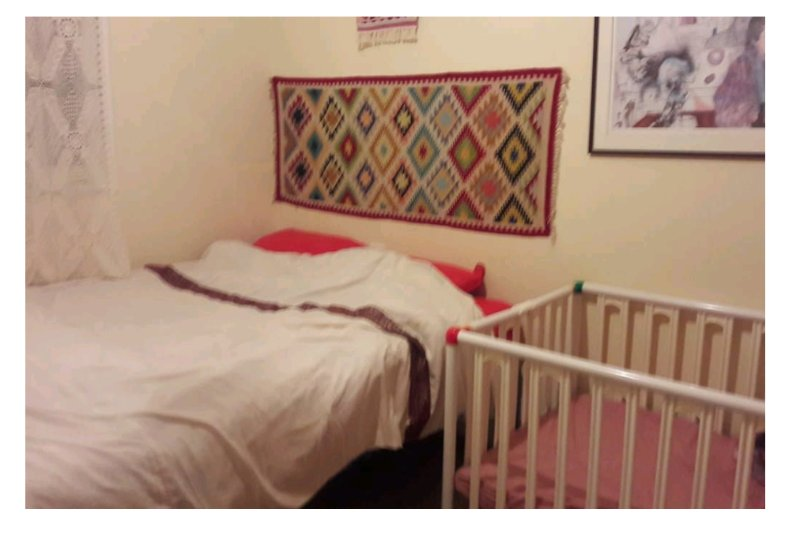 The first room with baby playpen. (When a family comes with a baby).