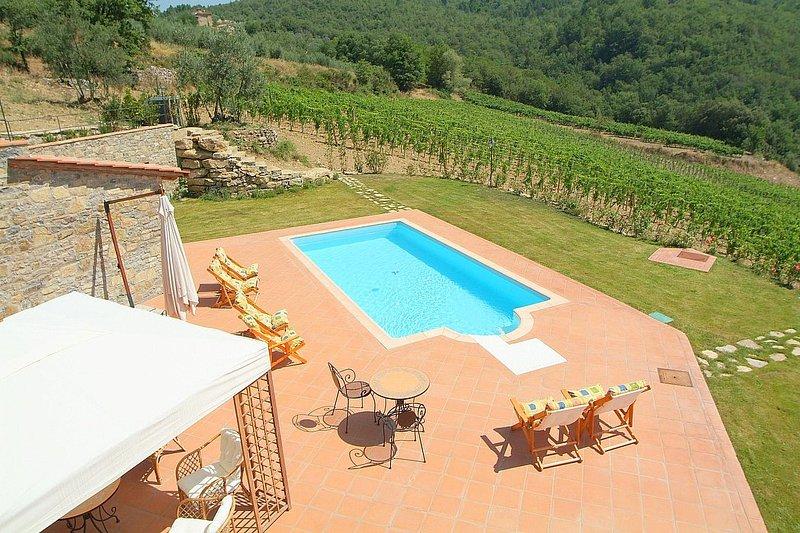 Gaiole in Chianti Villa Sleeps 8 with Pool Air Con and WiFi - 5228802, holiday rental in Gaiole in Chianti