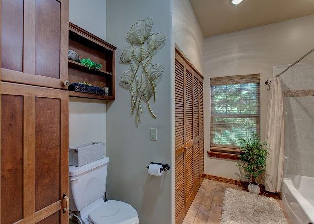 Guest Bath with Tub/Shower Combo, Bidet & Towel Warmer.