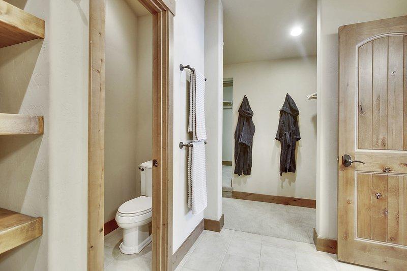 Master bath suite with huge walk-in closet area
