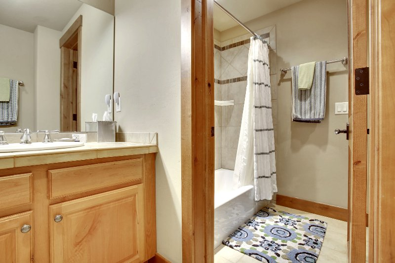 Lower level full bath room