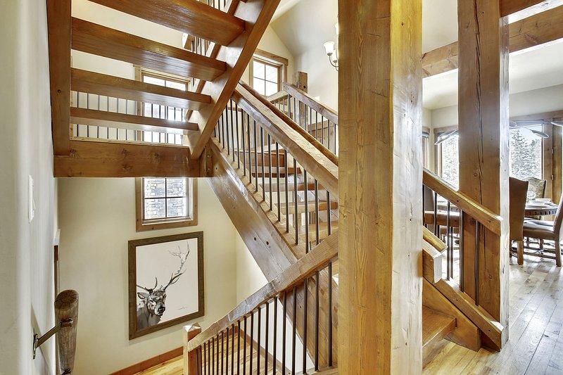 Custom wood detailing on 3 levels