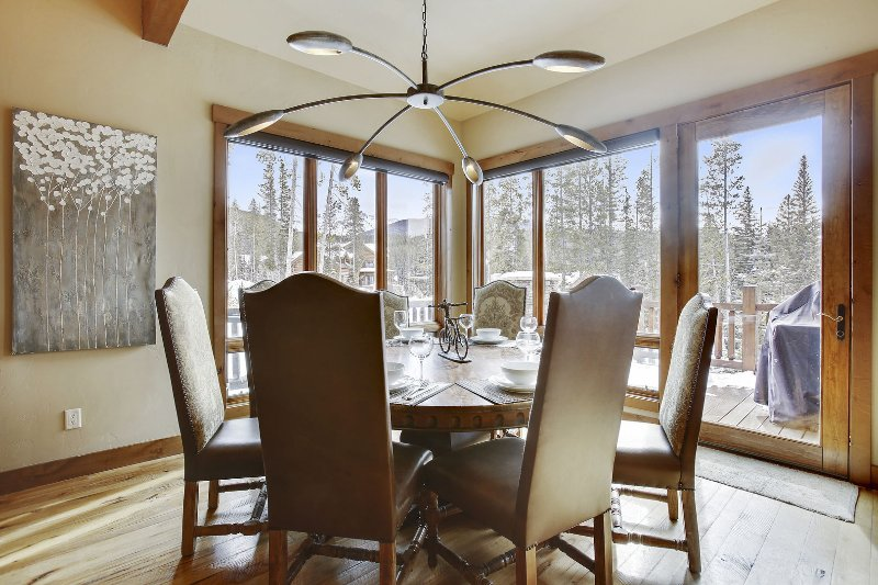 Dining area with direct access to huge deck