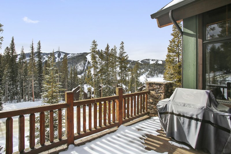 Expansive rear deck with gas grill and amazing views