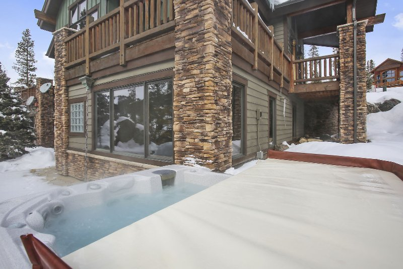 Large hot tub with easy access from the home