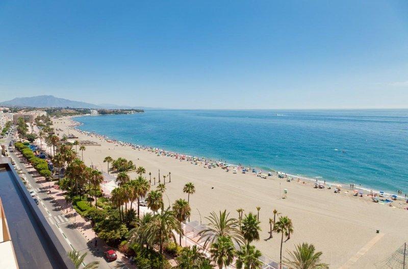 First Line Beach, close to Estepona port and centre