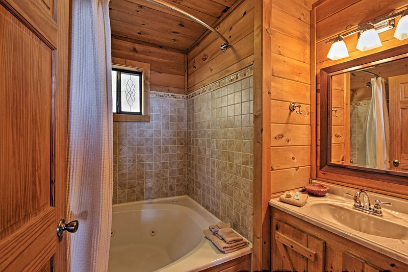 Treat yourself to a long soak in the jetted tub!