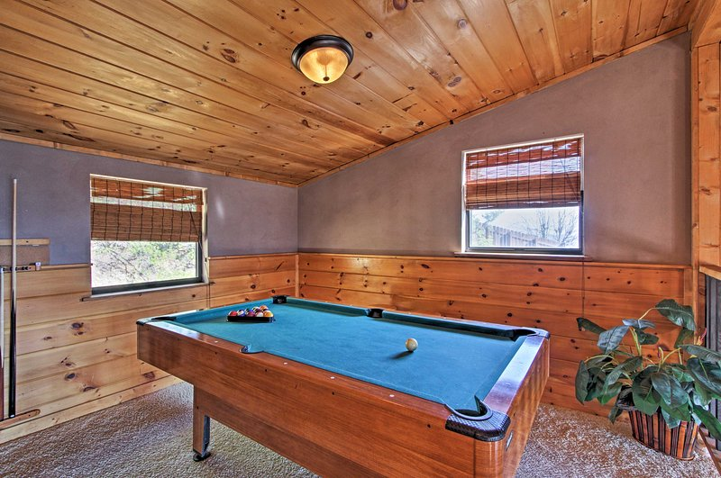 Play a game of pool during downtime!