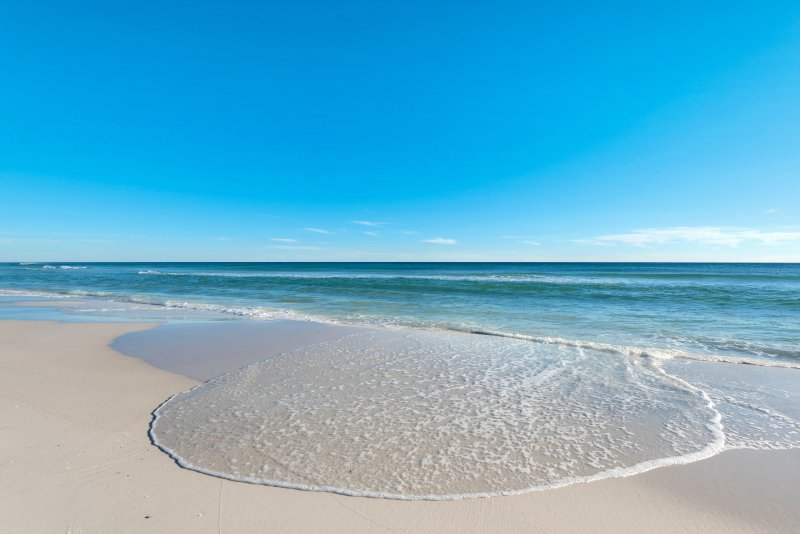 Miramar Beach is known for its white sands - perfect for building sandcastles