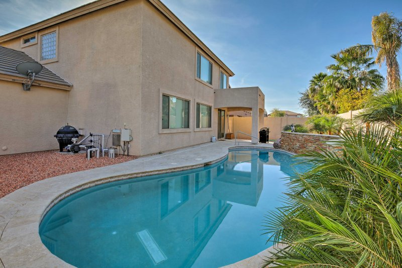 Enjoy a private poolside oasis right in your backyard!