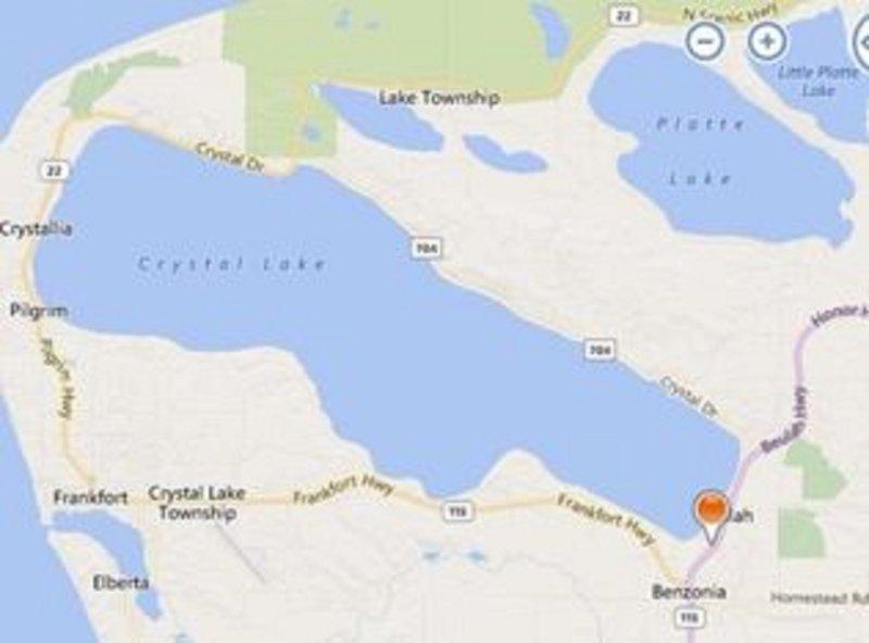 Echa un vistazo a la vista del mapa de Crystal Lake!