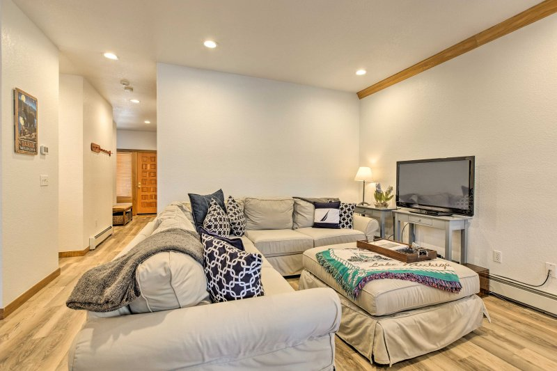 There's plenty of room for everyone on this plush sectional.