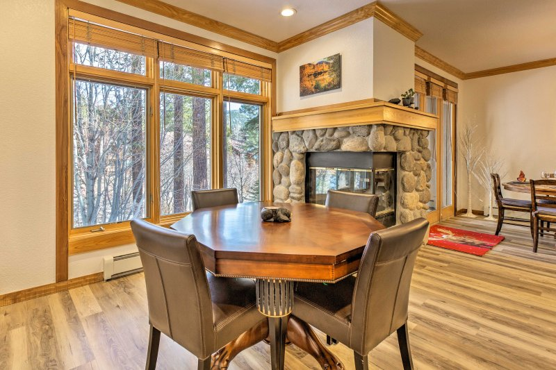 Cozy up next to the gas fireplace during the winter!