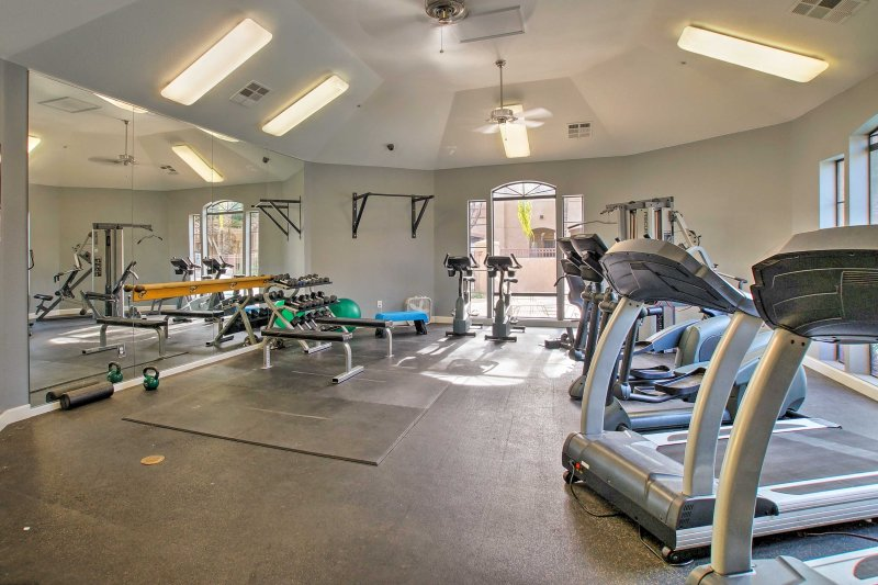 If you want to stay fit during your stay, work up some sweat in the gym.
