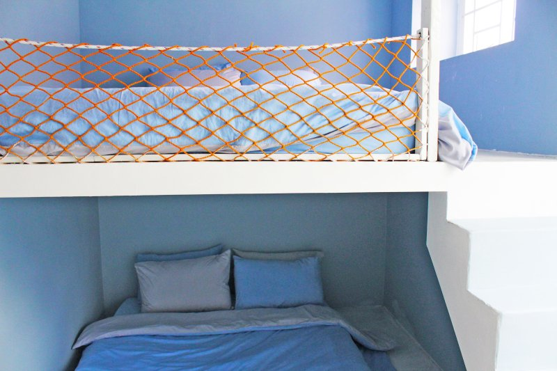 Ocean blue 05 room -bunk bed with queen