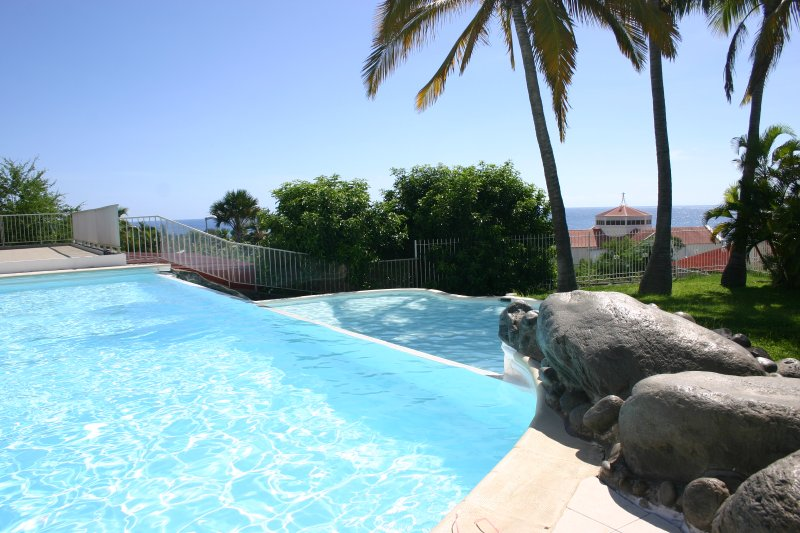 The infinity pool with sea view