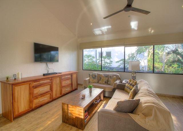 Bright, modern living room at Casa Salvador