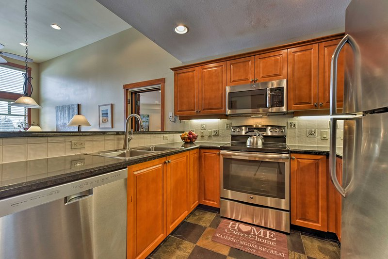 The fully equipped kitchen has everything you'll need to cook your favorite recipes.