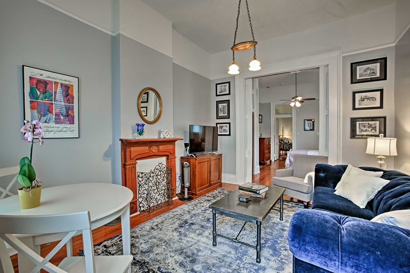 Enjoy an ideal home base after a day exploring New Orleans at this classic vacation rental apartment.