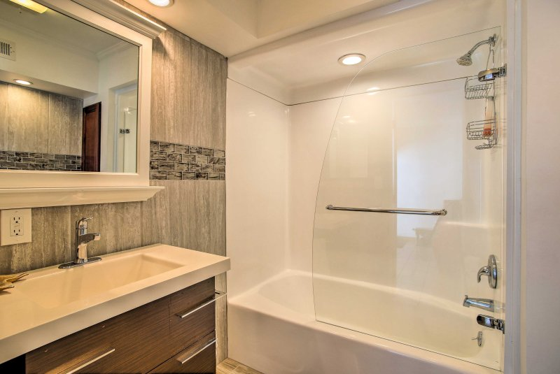 After a day at the beach, enjoy a long shower or bath.