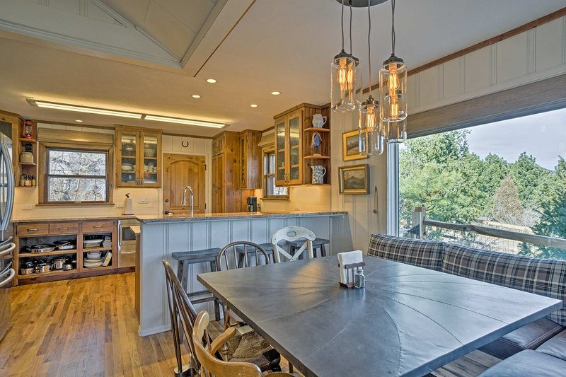 The interior of the home is deigned to impress with custom furnishings and breathtaking views throughout.