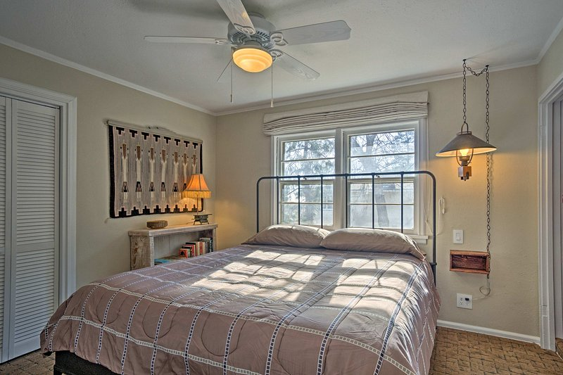 The second bedroom has a plush king bed for an optimal night's rest.