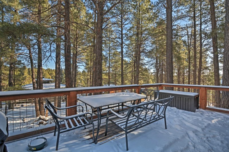 Book a scenic getaway at this 3-bedroom, 2-bath Flagstaff vacation rental home!