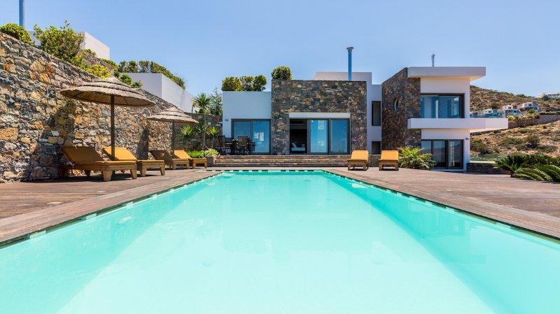 Black Seaview Villa, Elounda Crete, holiday rental in Elounda