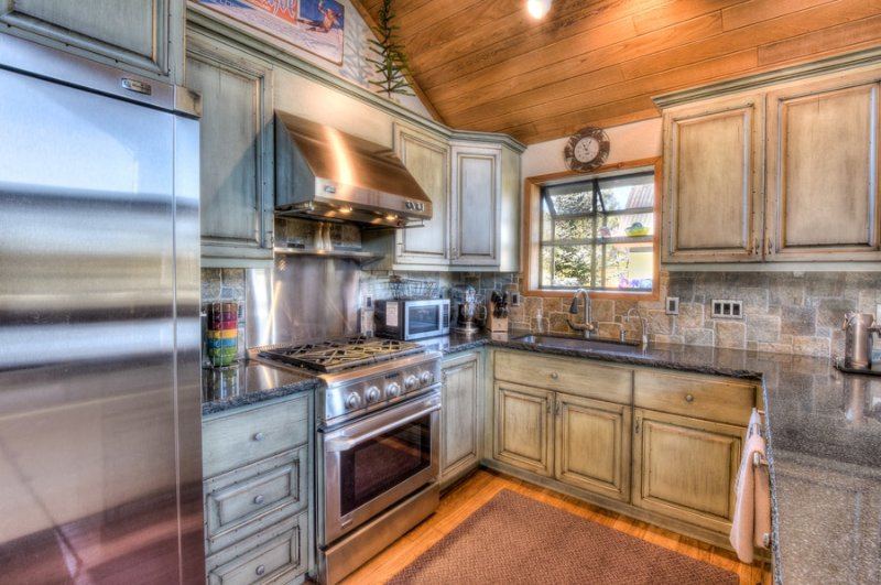 Beautiful kitchen for cooking and baking